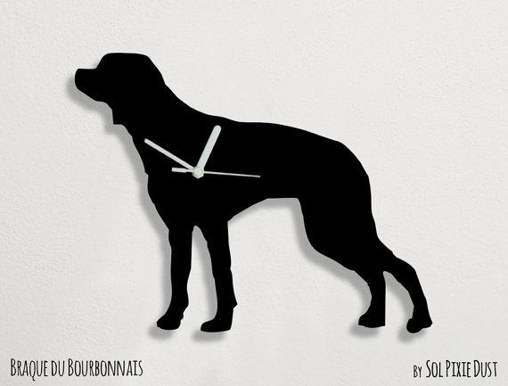 Braque du Bourbonnais Dog: Braque Braque Du Bourbonnais Dog Wall Clock Breed