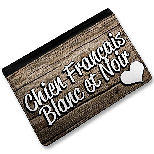 Chien Français Blanc et Noir Dog: Chien Rfid Passport Holder Chien Frana Ais Blanc Et Noir Dog Breed France Cover Case Wallet Neonblond