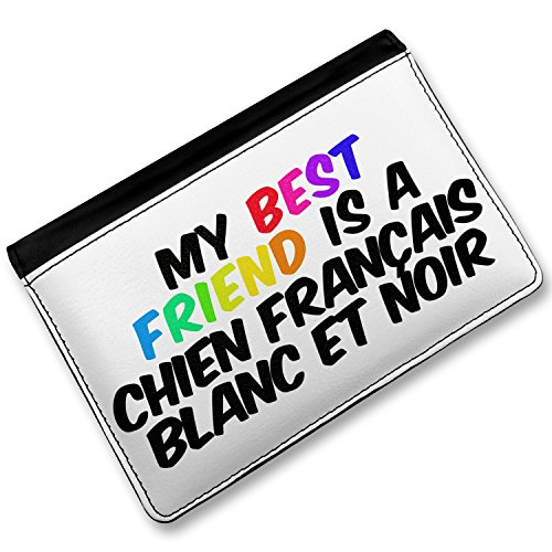 Chien Français Blanc et Noir Dog: Chien Rfid Passport Holder My Best Friend A Chien Frana Ais Blanc Et Noir Dog From France Cover Case Wallet Neonblond Breed