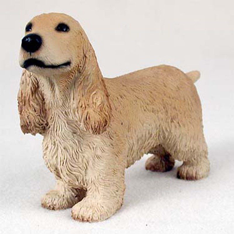 English Cocker Spaniel Dog: English English Cocker Spaniel Hand Painted Dog Figurine Statue Breed
