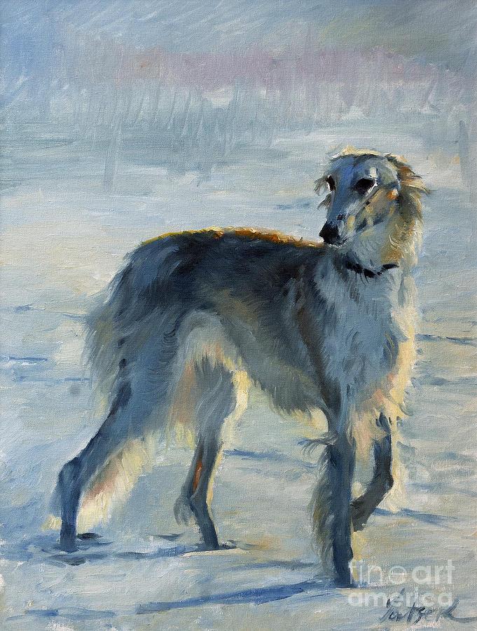 Russian tracker Dog: Russian Russian Borzoi Dog Breed