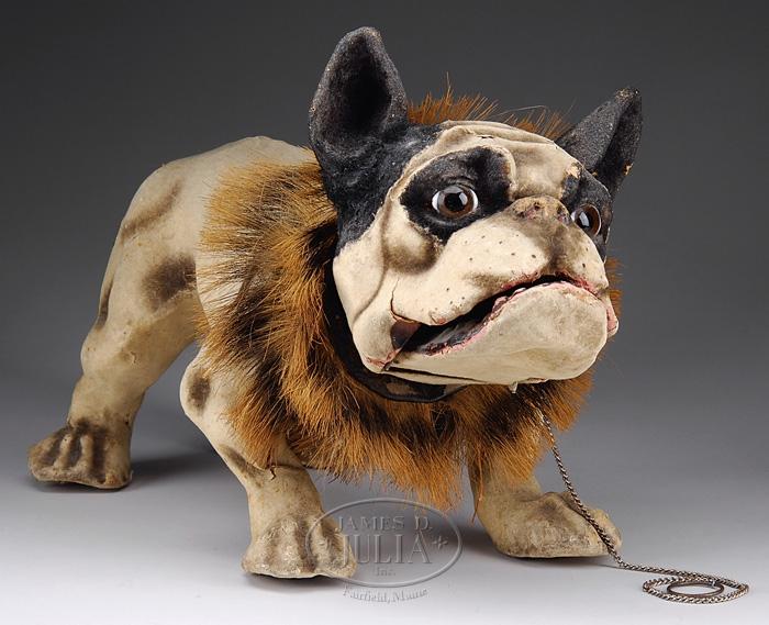Toy Bulldog Dog: Toy Pull Toy Dog Bulldog Nodder Growler Papier Mache France Inch D Breed