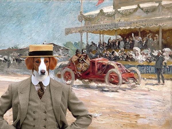 Westphalian Dachsbracke Dog: Westphalian Westphalian Dachsbracke Art Canvas Print Sandra Sij Breed